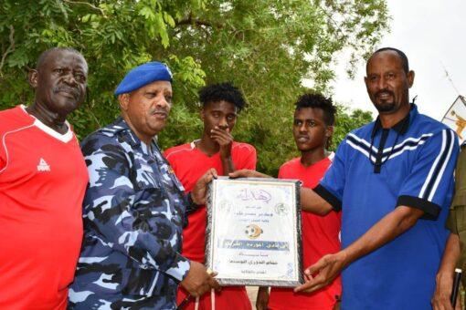 شرطة ولاية النيل الأبيض تكرم الاندية المشاركة في دوري الوسيط