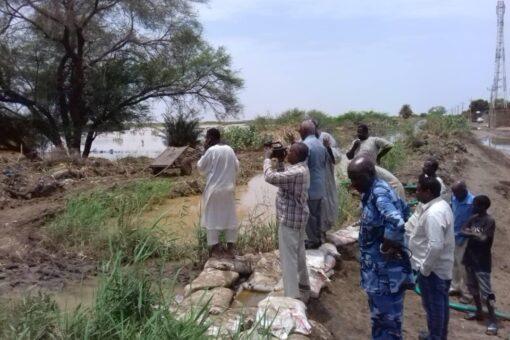 إرتفاع منسوب نهر النيل الرئيسي والعطبرواي بمحطة عطبرة