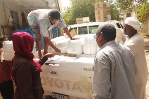 الصحة بالشمالية تدشن توزيع معينات طوارئ الخريف للمتأثرين بمحليات الولاية