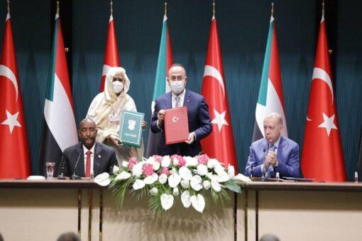 البرهان وأردوغان يوقعان بيان مشترك ويشهدان توقيع عدد من الاتفاقيات