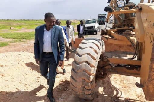 صيانة طريق الفاشر نيالا بولاية شمال دارفـــور