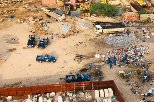 شرطة الخرطوم تضبط مسروقات واسلحة بيضاء بمنطقة الساحة