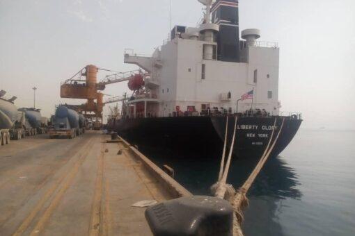 وصول الدفعة الثالثة من القمح الأمريكي إلى ميناء بورتسودان