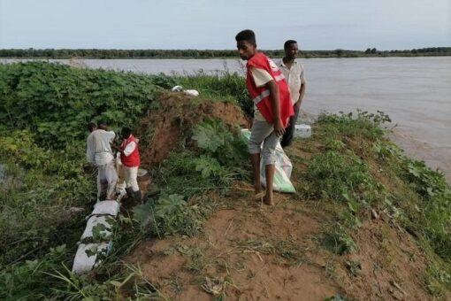 منسوب النيل الأزرق يسجل انخفاضا طفيفا عند مدينة سنجة