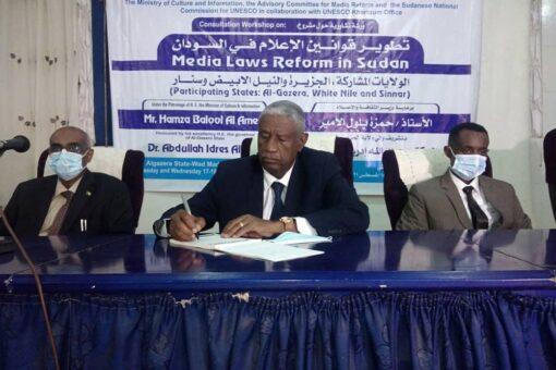 انطلاقة الورشة التشاورية حول مشروع تطوير قوانين الإعلام بودمدنى