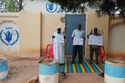 الفاشر: مفصولو الحرس الأمني ببرنامج الغذاءالعالمي يغلقون مقر المنظمة