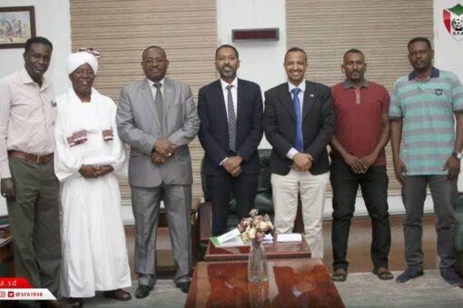 دعم رسمي للمنتخب الوطني السوداني