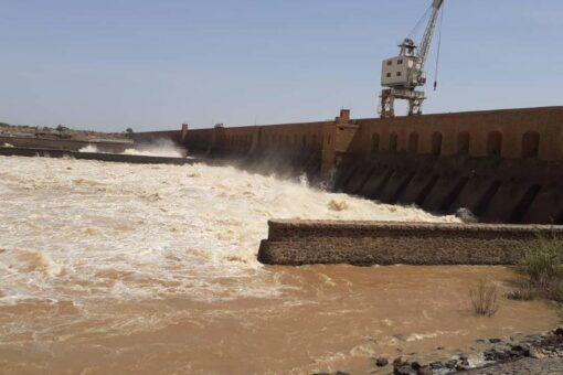 إرتفاع طفيف في منسوب مياه النيل الأزرق بسنجة لليوم الثاني