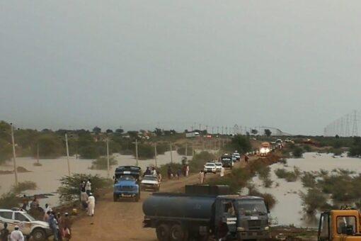 توقف حركة المرور عبر الطريق القومي ابو حجار الدمازين
