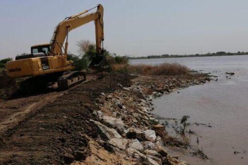 انخفاض منسوب نهر النيل الرئيسي والعطبرواي بمحطة عطبرة