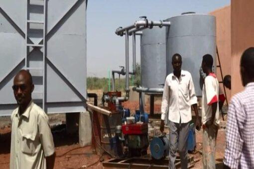 إنشاء محطة مياه مدمجة بمعسكر العلقاية للاجئين بالنيل الابيض