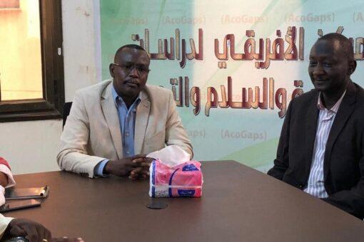 والي شمال دارفور يزور المركز الافريقي لدراسات الحوكمه و السلام