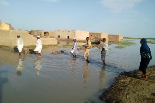 إنقطاع طريق ود النيل الدمازين عند خور الملوية للمرة الثانية