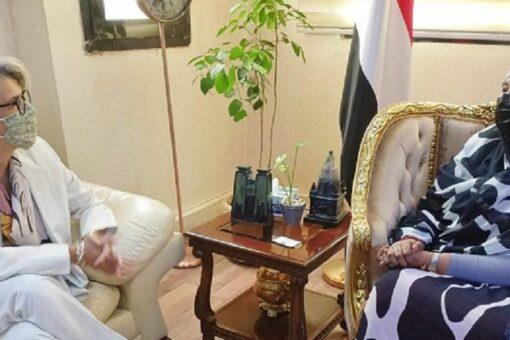 وزيرة الخارجية تلتقي مبعوث الإتحاد الأوروبي للقرن الأفريقي