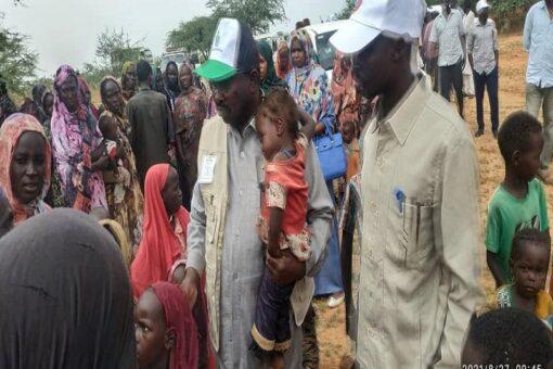 شمال دارفور تسير أول قافلة مساعدات إنسانية لنازحي أحداث كولقي