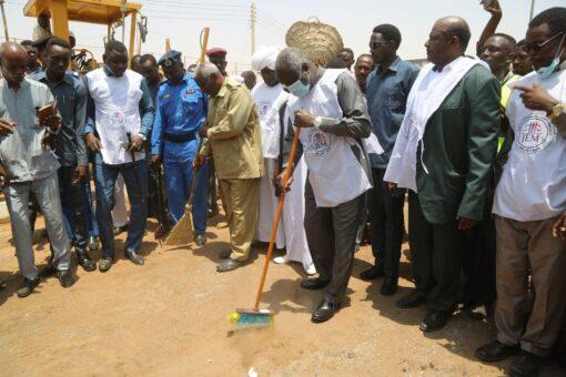 إنطــلاق حملة القومة السودانية لنظافة ولاية الخرطوم
