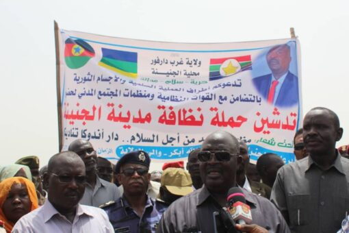 والي غرب دارفور يدشن مبادرة الإصحاح البيئي بالولاية