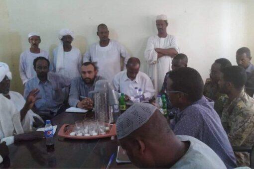 رفع الاعتصام والاتفاق حول تنفيد كهرباء قرى محلية ابوحمد