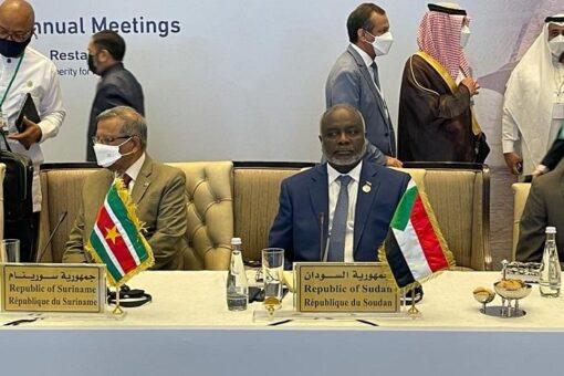 وزير المالية يثمن دور البنك الإسلامي للتنمية تجاه السودان