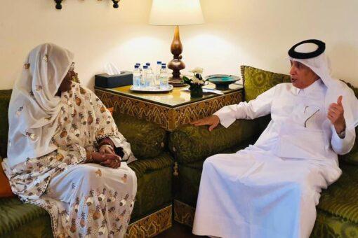 وزيـرة الخارجـية تلتقي وزير الدولة للشؤون الخارجية القطري
