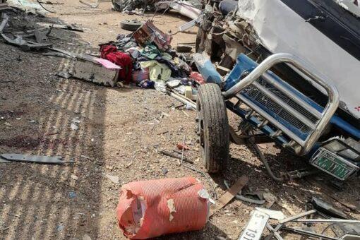 وفاة7أشخاص وإصابة 13آخرين في حادث مروري بطريق الخرطوم مدني