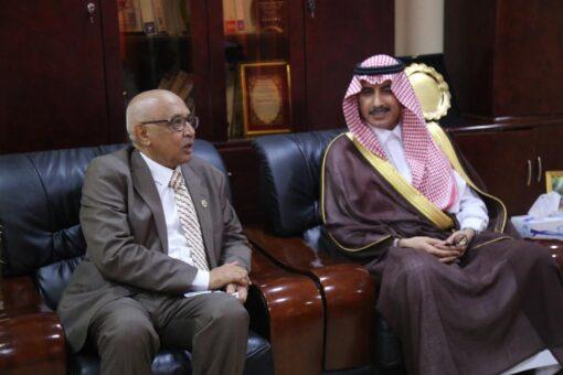 مدير جامعة السودان يستقبل وكيل التعليم للتعاون الدولي السعودي