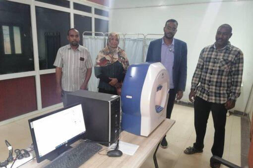 النيل الابيض:تركيب جهاز قياس مجال الرؤية للعيون بالتأمين الصحيّ