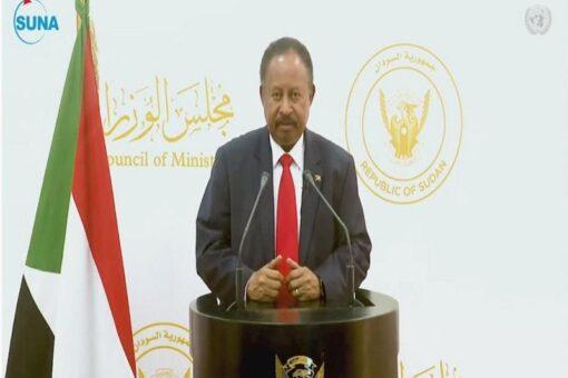حمدوك يخاطب الشعب السوداني مساء اليوم