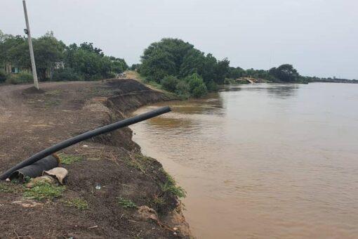 زيادة كبيرة في منسوب مياه النيل الأزرق بمدينة سنجة