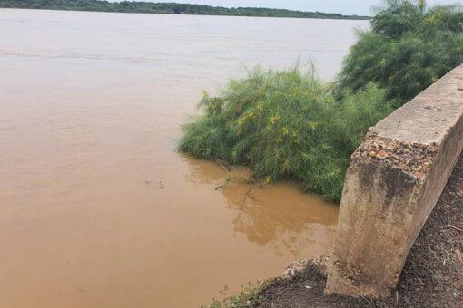 انخفاض كبير في منسوب مياه النيل الأزرق بمدينة سنجة