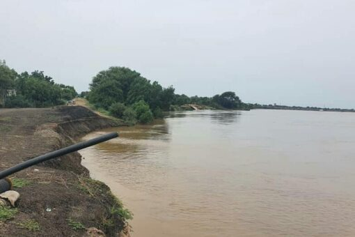انخفاض منسوب النيل الأزرق وتشغيل طلمبات الري بسنار