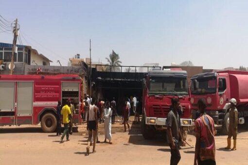 مصرع ثمانية أشخاص اختناقا إثر حريق بكافتريا رزاز بأمدرمان